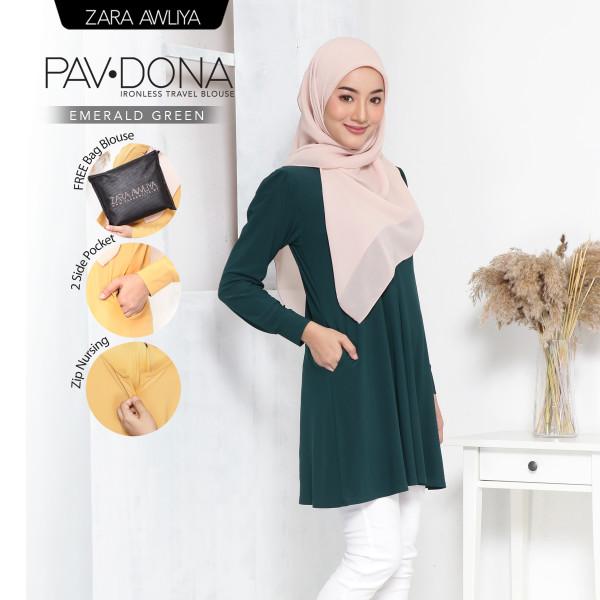 PAVDONA IRONLESS BLOUSE - Emerald Green - ZARA AWLIYA