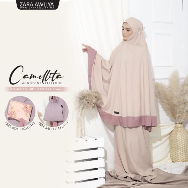 Telekung Camellita 1.0  - Buttermilk - ZARA AWLIYA