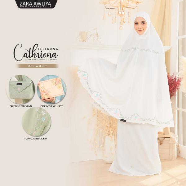 Telekung Cathriona - Off White - ZARA AWLIYA