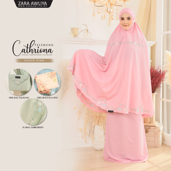 Telekung Cathriona - Dusty Pink - ZARA AWLIYA