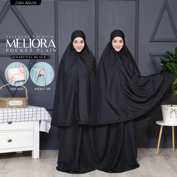 TELEKUNG MELIORA Pocket Plain - Charcoal Black - ZARA AWLIYA