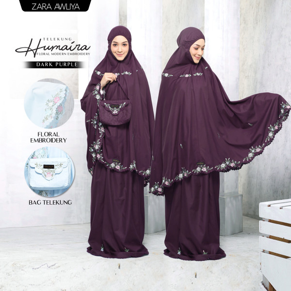 Telekung HUMAIRA - Dark Purple - ZARA AWLIYA