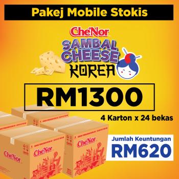 [ MOBILE STOKIST ] Pakej 4 Che'Nor Sambal Cheese - RM1300