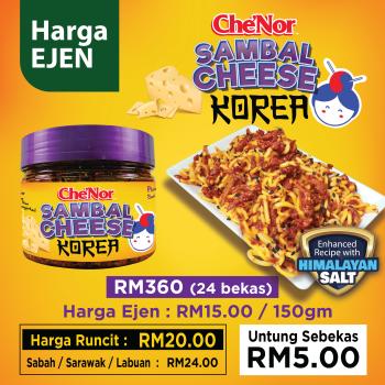 [ DAFTAR EJEN ] - Che'Nor Sambal Cheese Korea (150gm) x 24 pcs