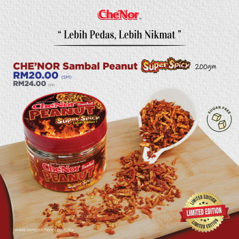 Che'Nor Sambal Peanut Super Spicy - 200gm