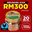 [ MOBILE STOKIST ] Serunding Ayam 150gm x 20 bekas - Sambal Garing Che'Nor Official