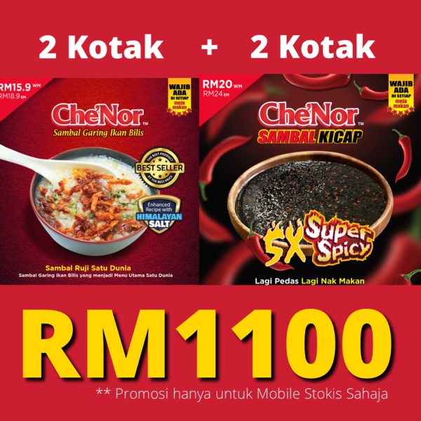 [ MOBILE STOCKIST ] - Best Seller 2020 - Sambal Garing Che'Nor Official