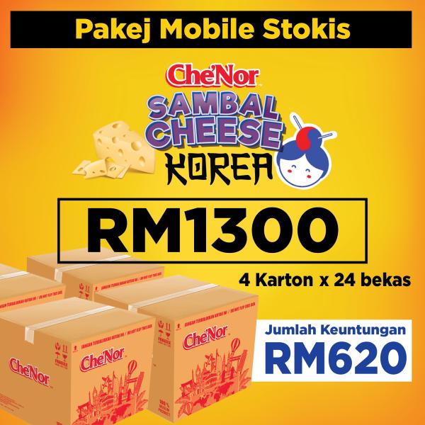 [ MOBILE STOKIST ] Pakej 4 Che'Nor Sambal Cheese - RM1300 - Sambal Garing Che'Nor Official