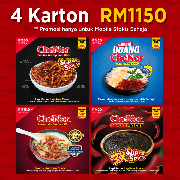 [ MOBILE STOCKIST ] - Mixed Kombo - Sambal Garing Che'Nor Official