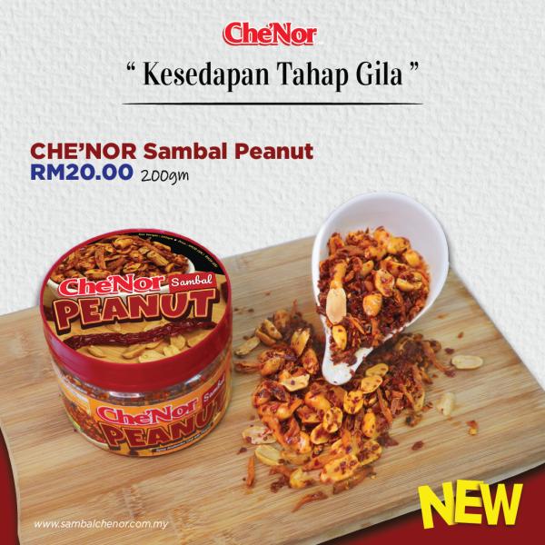 Che'Nor Sambal Peanut - 200gm - Sambal Garing Che'Nor Official