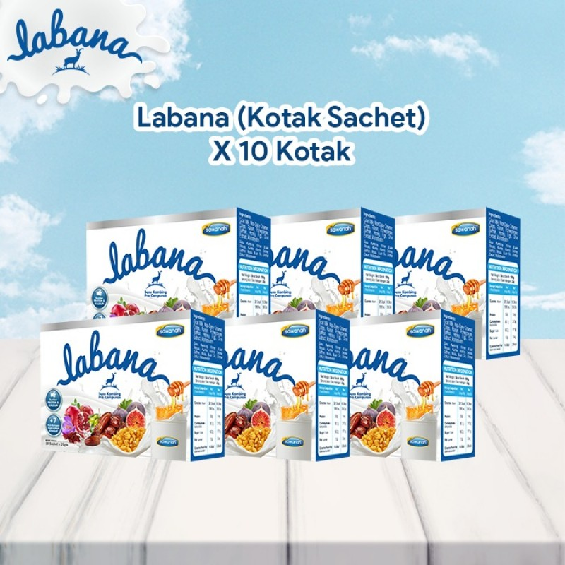AGEN Labana Susu Kambing - Kotak Sachet (10 Pek)