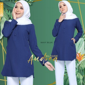 AUDREA  BLOUSE - NAVY BLUE