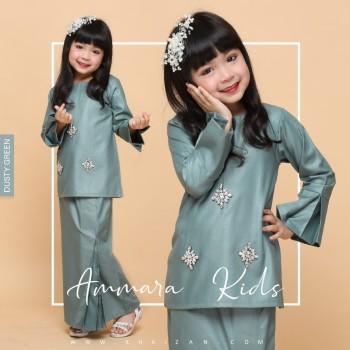 AMMARA KURUNG KIDS - DUSTY GREEN