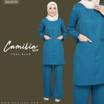 CAMELIA SUIT - TEAL BLUE (PREORDER)