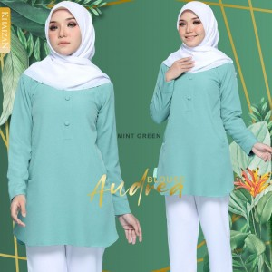 AUDREA  BLOUSE - MINT GREEN