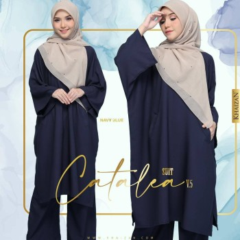 CATALEA SUIT - NAVY BLUE  (V4)  - KHAIZAN