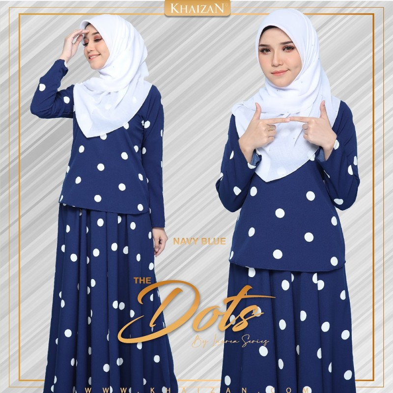 THE DOTS - NAVY BLUE - KHAIZAN