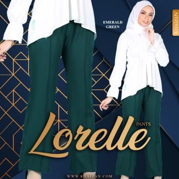 LORELLE PANTS - EMERALD GREEN