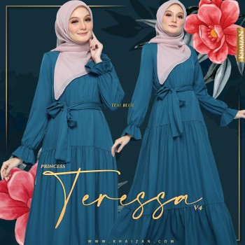 PRINCESS TERESSA V4 - TEAL GREEN