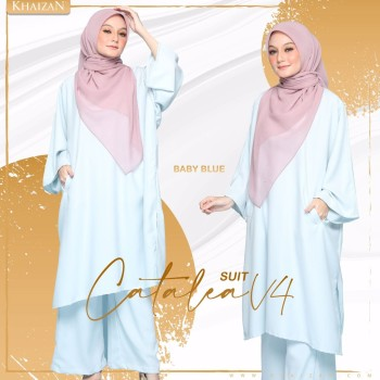 CATALEA SUIT - DUSTY BLUE (V4)  - KHAIZAN