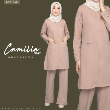 CAMILIA SUIT - NUDE BROWN (PREORDER)