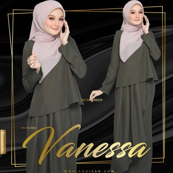 PRINCESS VANESSA - MOSS GREEN