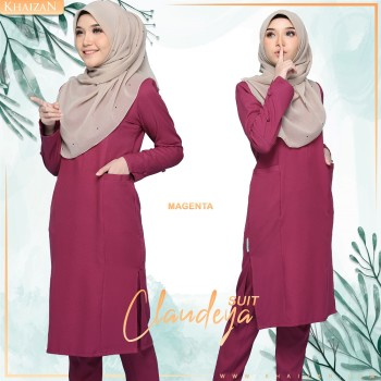 CATHERINA SUIT - BURGUNDY - KHAIZAN