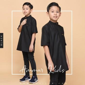 AMMAR KURTA KIDS - BLACK