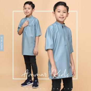 AMMAR KURTA KIDS - DUSTY BLUE