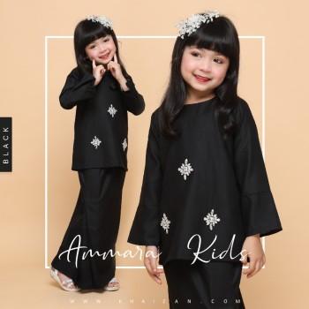 AMMARA KURUNG KIDS - BLACK