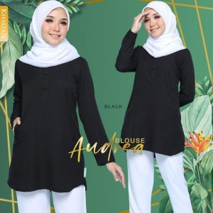AUDREA  BLOUSE - BLACK