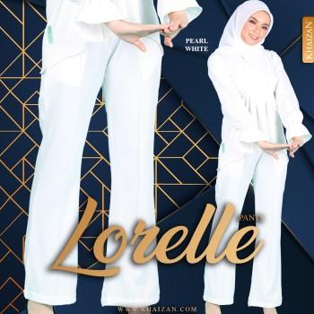 LORELLE PANTS - PEARL WHITE