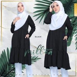 MILLEA BLOUSE - BLACK - KHAIZAN