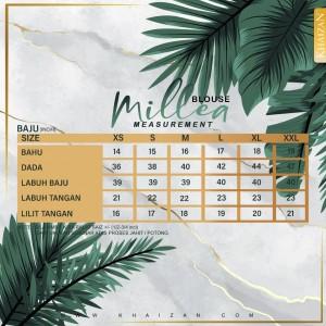 MILLEA BLOUSE - MAROON - KHAIZAN