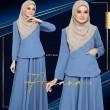 PRINCESS ARIANA V7 - DUSTY  BLUE - KHAIZAN