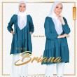 BLOUSE BRIANA - TEAL BLUE - KHAIZAN