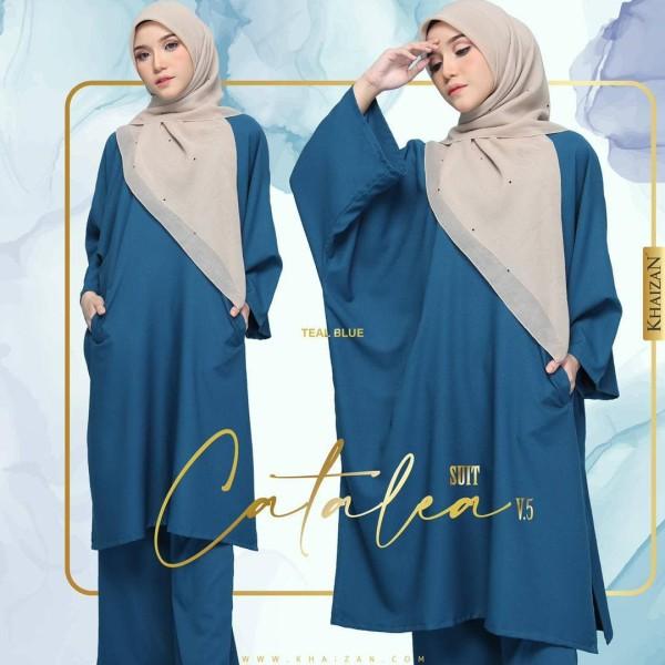 CATALEA SUIT - TEAL BLUE (V5) - KHAIZAN