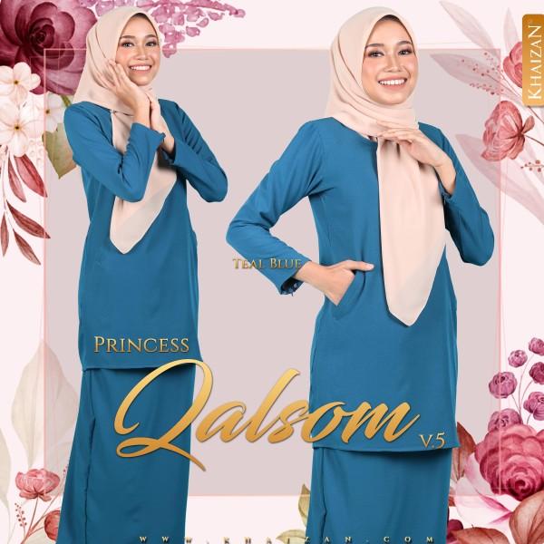 PRINCESS QALSOM V5 - TEAL BLUE - KHAIZAN