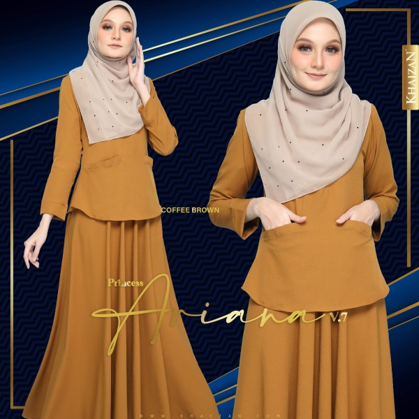 PRINCESS ARIANA V7 - COFFEE BROWN - KHAIZAN