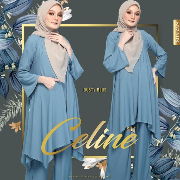 CELINE SUIT - DUSTY BLUE - KHAIZAN