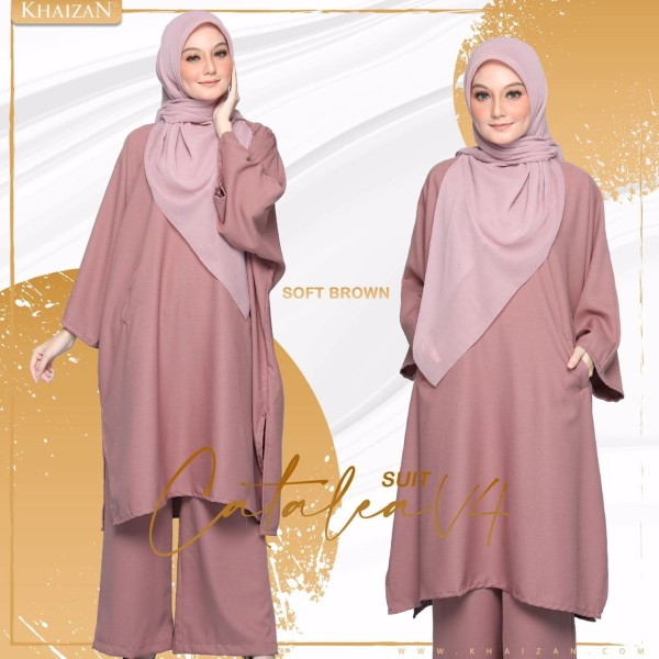 CATALEA SUIT - SOFT BROWN (V4)  - KHAIZAN