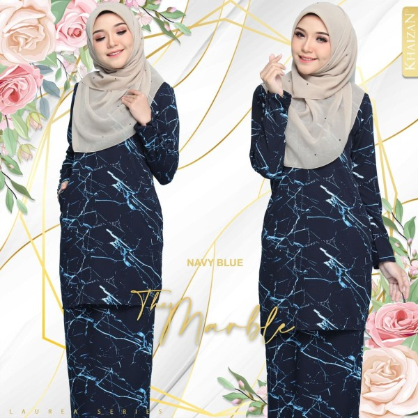 THE MARBLE BY LAUREA SERIES - NAVY BLUE - KHAIZAN
