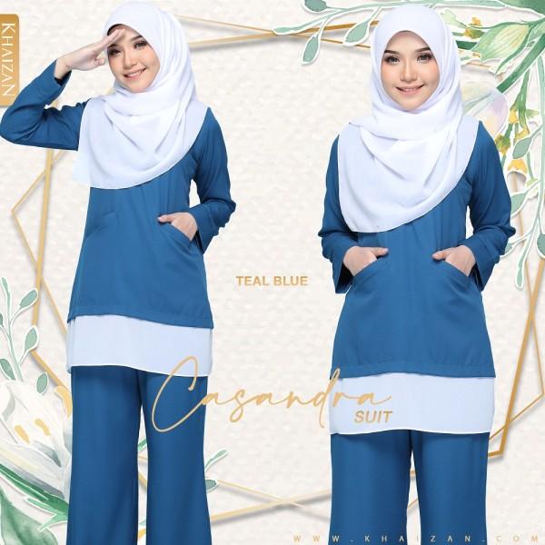 CASANDRA SUIT - TEAL BLUE - KHAIZAN