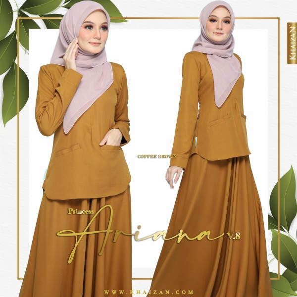 PRINCESS ARIANA V8 - COFFEE BROWN - KHAIZAN