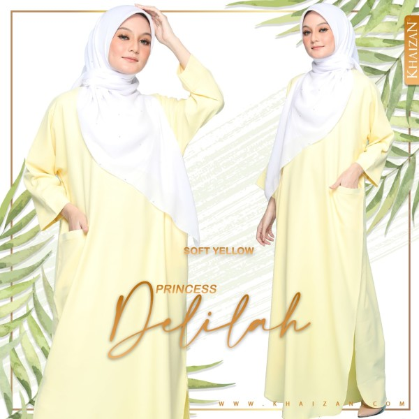 PRINCESS DELILAH - SOFT YELLOW - KHAIZAN