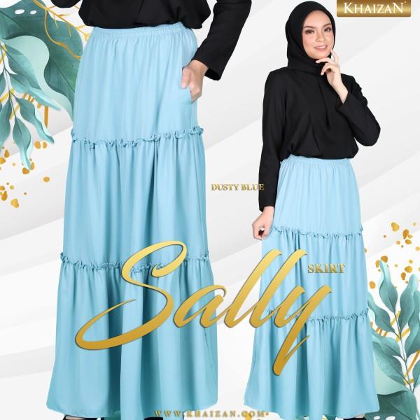 SALLY SKIRT - DUSTY BLUE - KHAIZAN