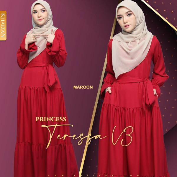 PRINCESS TERESSA V3 - MAROON - KHAIZAN