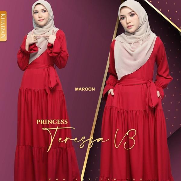 PRINCESS TERESSA - MAROON (V3) - KHAIZAN