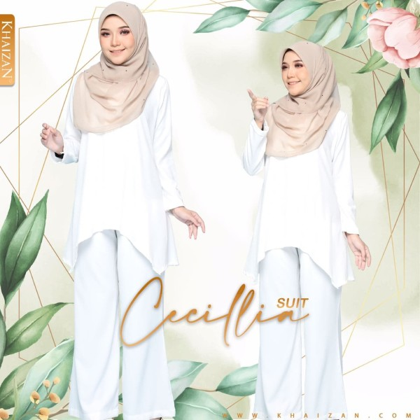CECILLIA SUIT - PEARL WHITE (V1)  - KHAIZAN