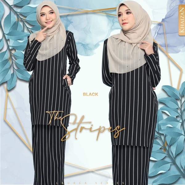 THE STRIPE BY LAUREA SERIES - BLACK - KHAIZAN